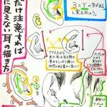 人物の耳を描くのは意外と難しい! 『耳』の描き方をまとめた、役に立つイラスト集がコレだ!