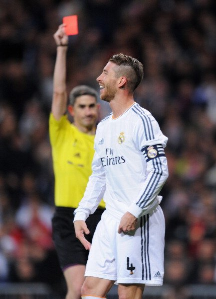Happy birthday El Capitano Sergio Ramos.  Some one give him a red card present