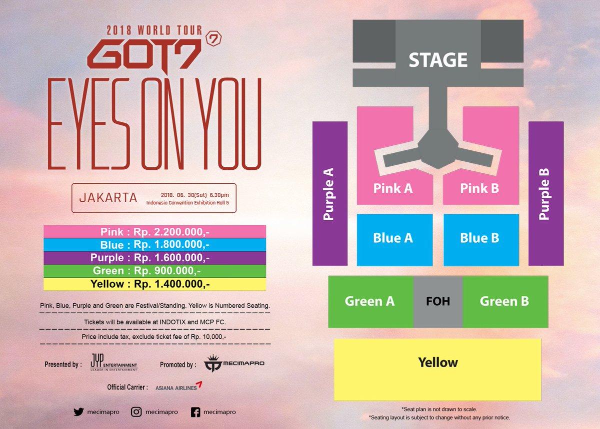 GOT7 2018 World Tour in Jakarta Juli 2018 saungkorea.com