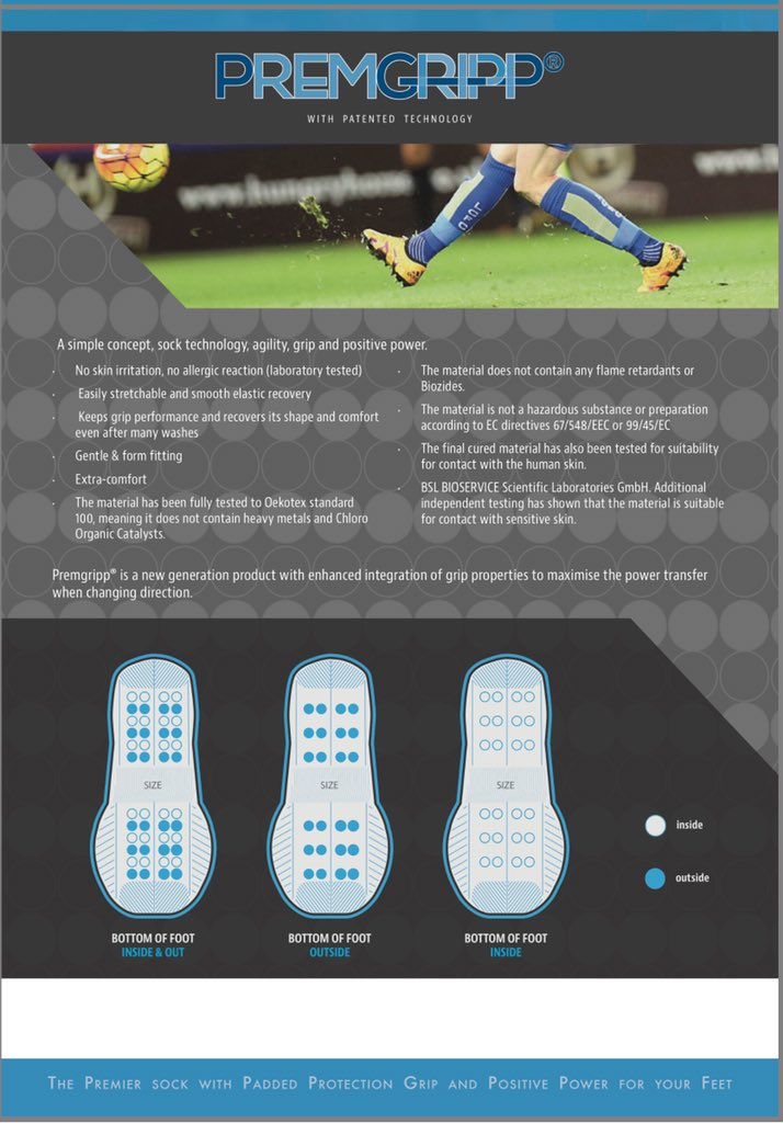 244e074ca7f5 Premgripp socks with the patented off-set foot technology stimulate your  feet try some today  football  cricket  rugby  netball   cyclingpic.twitter.com  ...