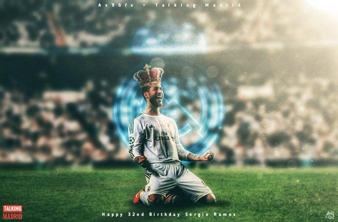 Another design for Sergio Ramos\ Birthday. Happy Birthday Capi