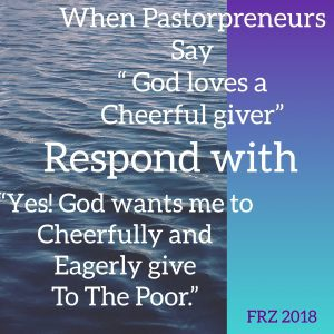 Yes, God loves a cheerful giver who gives eagerly to the poor https://t.co/HQvIqSRaF5 https://t.co/5UZXhzyLPi