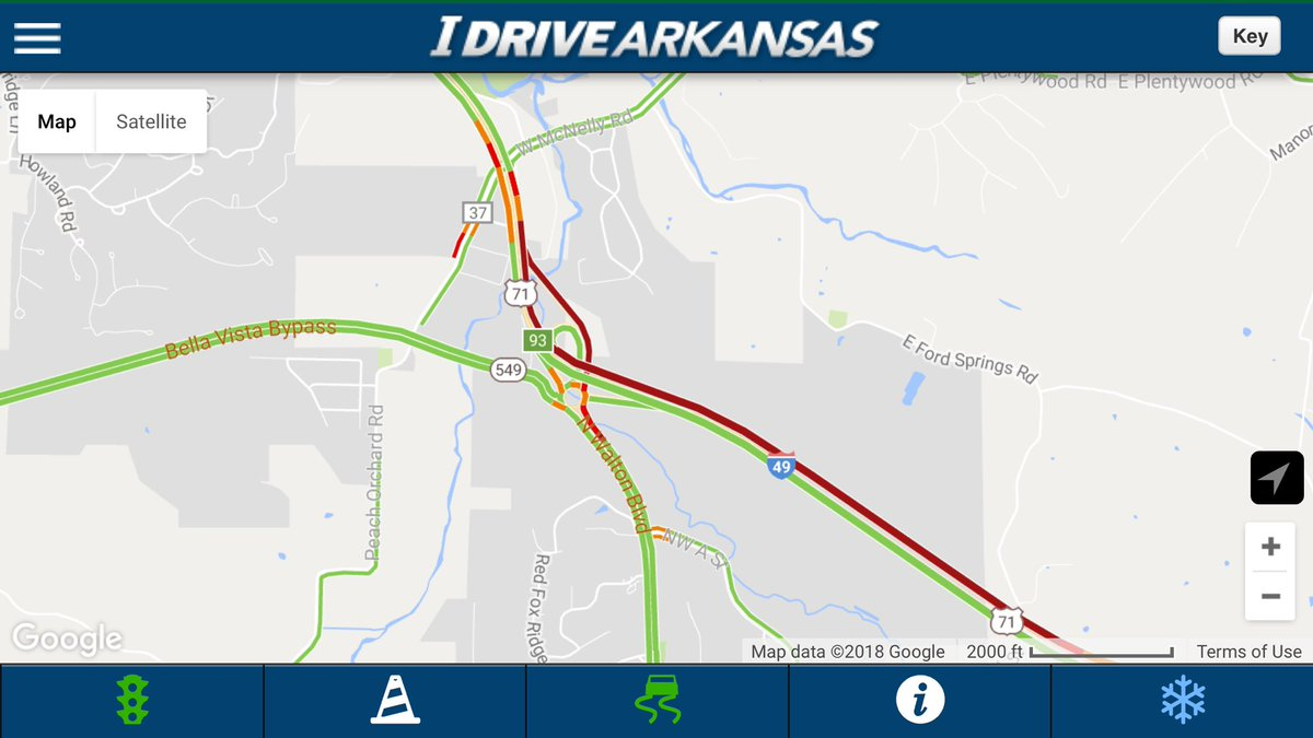 Arkansas Dot On Twitter Benton Co Multi Vehicle Accident With - Us-highway-71-map