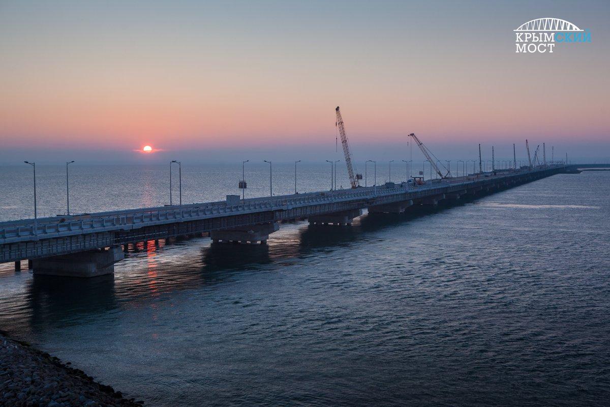 Видео проезда по Крымскому мосту!