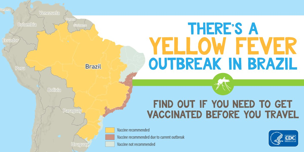 Cdc Yellow Fever Map on