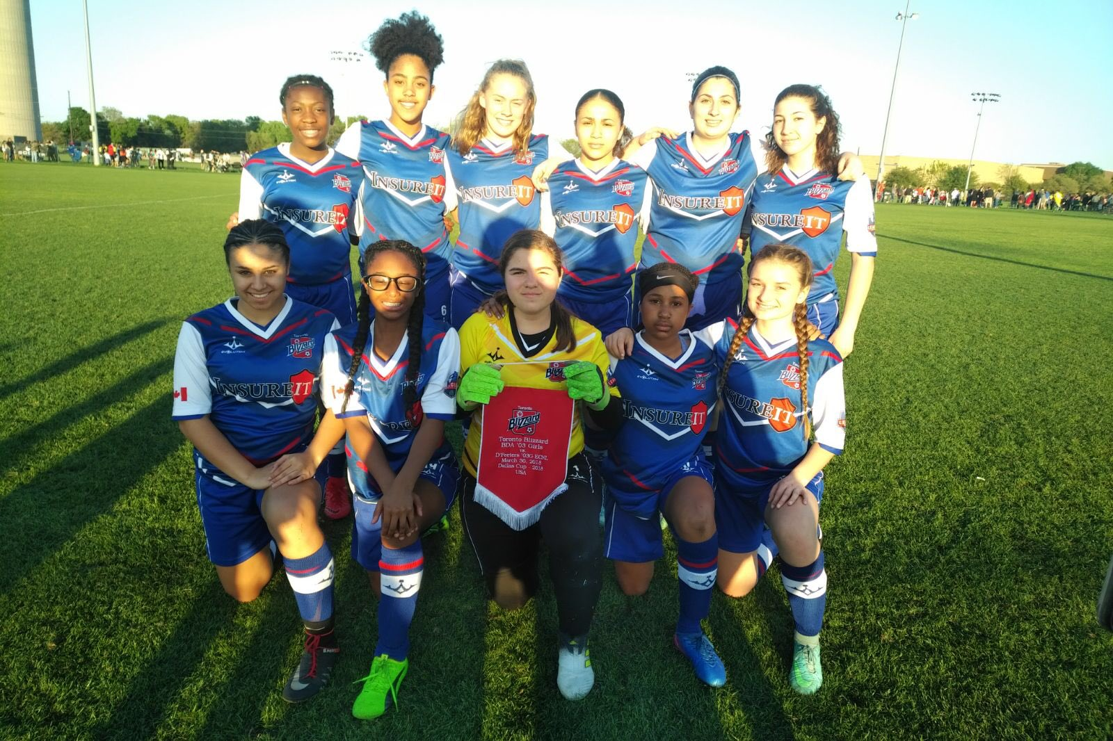 toronto blizzard on twitter game night blizzard against dfeeters dallasgirlscup digc2018