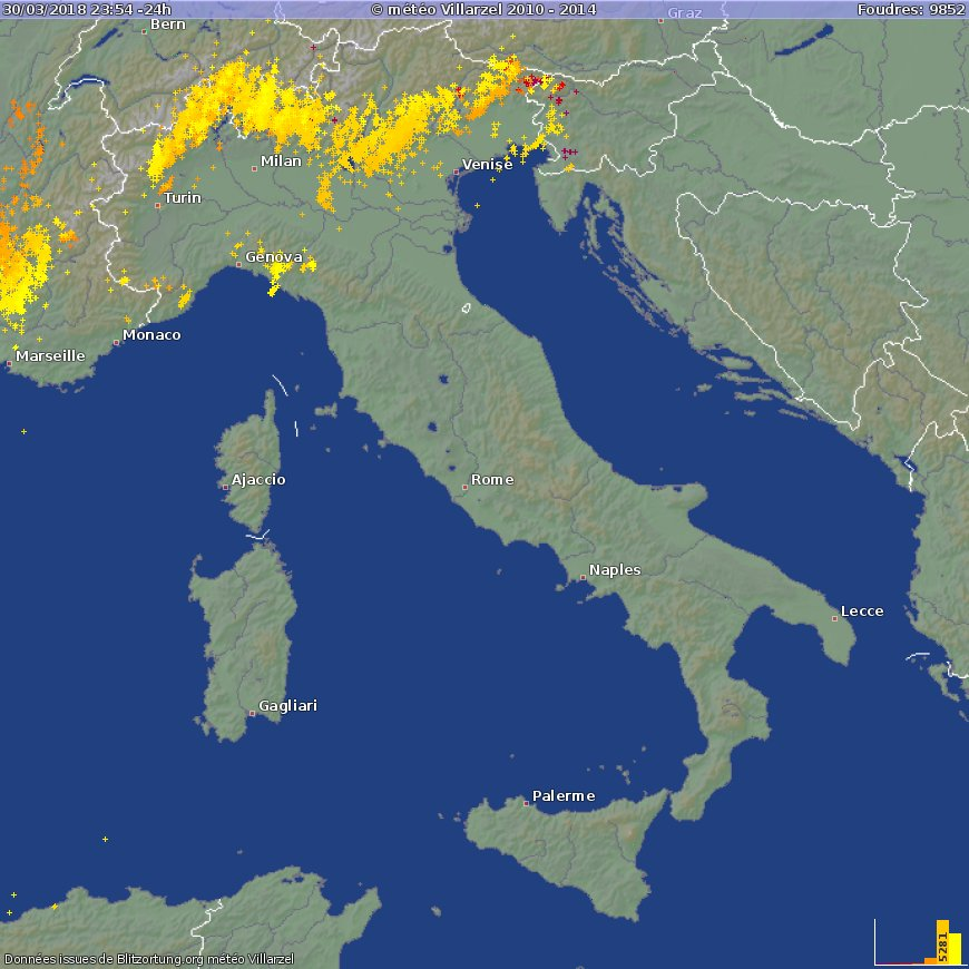 severeweatherEU on Twitter Lots of lightning activity across the