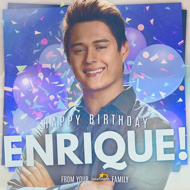 A belated happy birthday to our LAKAS, Enrique Gil! We hope you enjoyed your day!