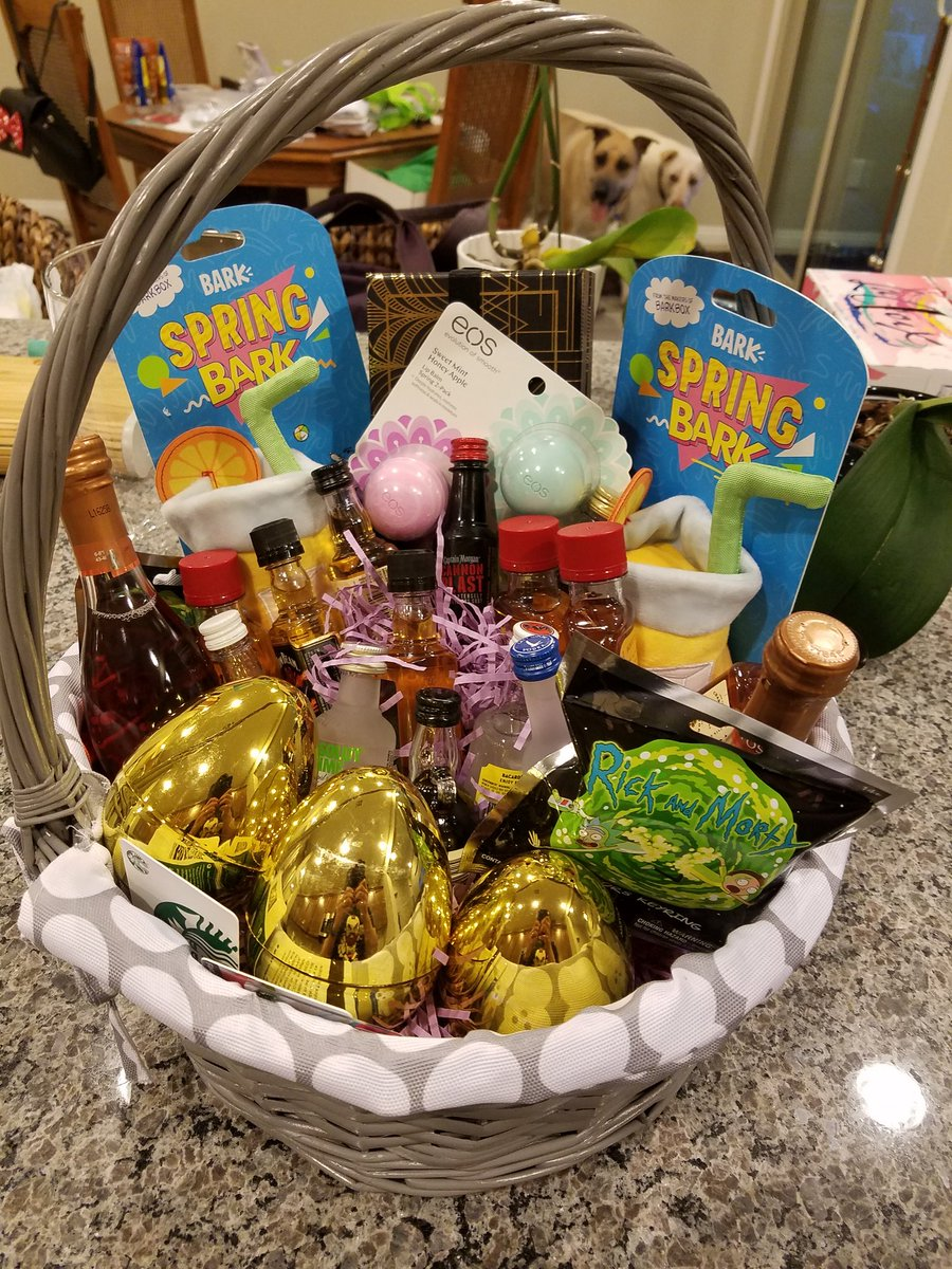 My wife got me a surprise adult easter basket bear bearunlv my wife got me a surprise adult easter basket birthday basket booze cruise negle Images