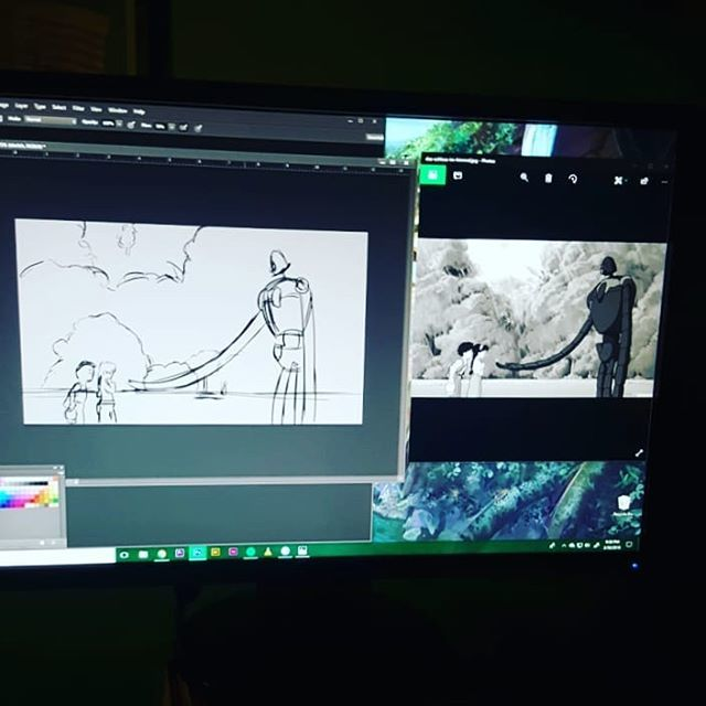 Studying Ghibli. . . . #study #laputa #castleinthesky #studioghibli #hayaomiyazaki #drawing #painting #digitalart #photoshop #bamboowacom #tablet #still #moviestudy #scene #sketch #animation #1986 #movies #keepgoing #draweveryday #twitter https://ift.tt/2GHyR2d pic.twitter.com/jf9QdwP8zt