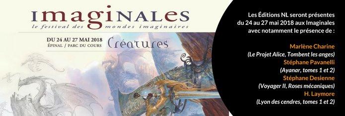 Nous serons au grand rendez-vous de tous les imaginaires ! Du 24 au 27 mai ! @imaginales @DesienneAuteur #sciencefiction #fantasy On vous prépare des surprises ! À très vite !