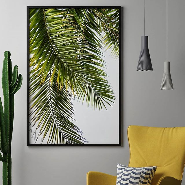 Green Love💚 - Get this palm motive in the link in bio. GREEN PALM LEAVES byLexie Greer - #artboxone #bespecial https://t.co/UDwPjhZVBl