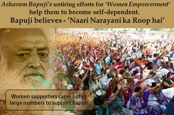 @D_S_MishraJi Sant Shri Asaram Bapu Ji has awakened women in their might and dignity. The enormous support for Bapu Ji lies in the achievement of Women Empowerment #EarthSaviour  <br>http://pic.twitter.com/upo6PBYqP5