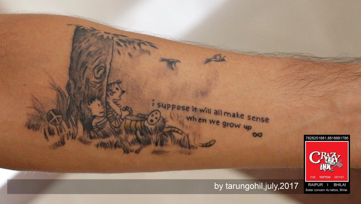 ede46fbe2 ... i suppose it will all make sense when we grow up. artist by tarun gohil  at crazy ink tattoo studio in raipur. #quotestattoo #tattooart  #raipurartist ...
