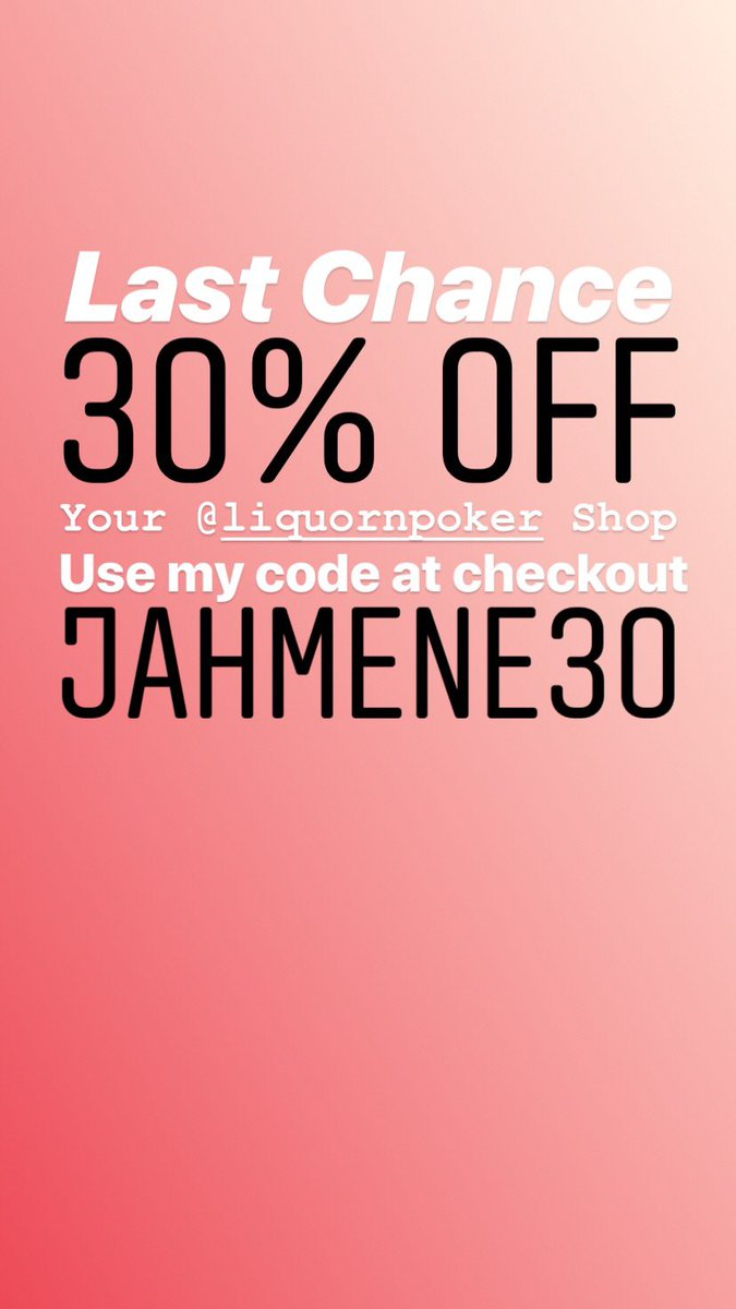 Last Chance! Last Day!   Need a new jacket? New jeans? Or A new tracksuit? Take advantage of this massive saving while you can.   30% Off your @LiquornpokerUK clothing shop.   Use my code at the checkout: JAHMENE30   Click here to shop now: https://t.co/G1neiXzP2b  #Discounts https://t.co/GhmE4UXYdm