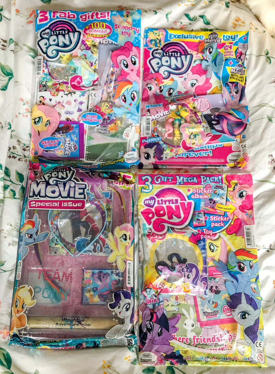 Put A Bundle Of My Little Pony Magazines Up On EBay Including The Movie Special Edition With Tempest Shadow Toy