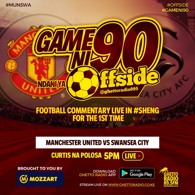 Ghetto Radio On Twitter Live Football Commentary In Sheng For The