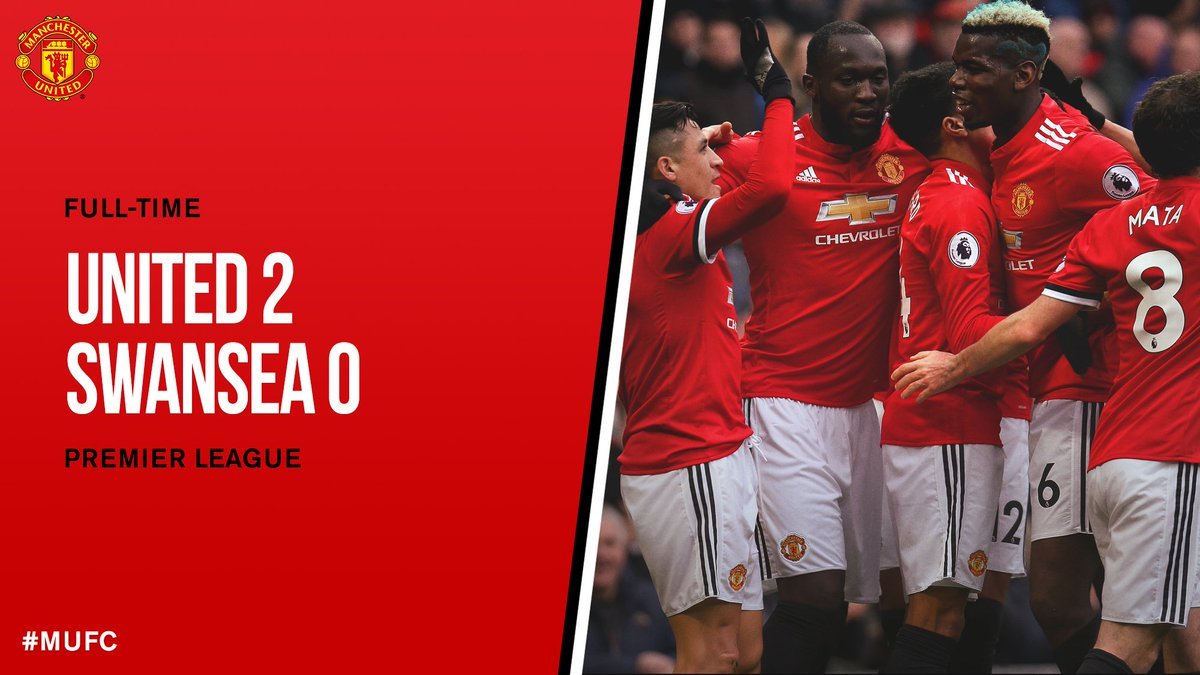 Chấm điểm kết quả Manchester United 2-0 Swansea City