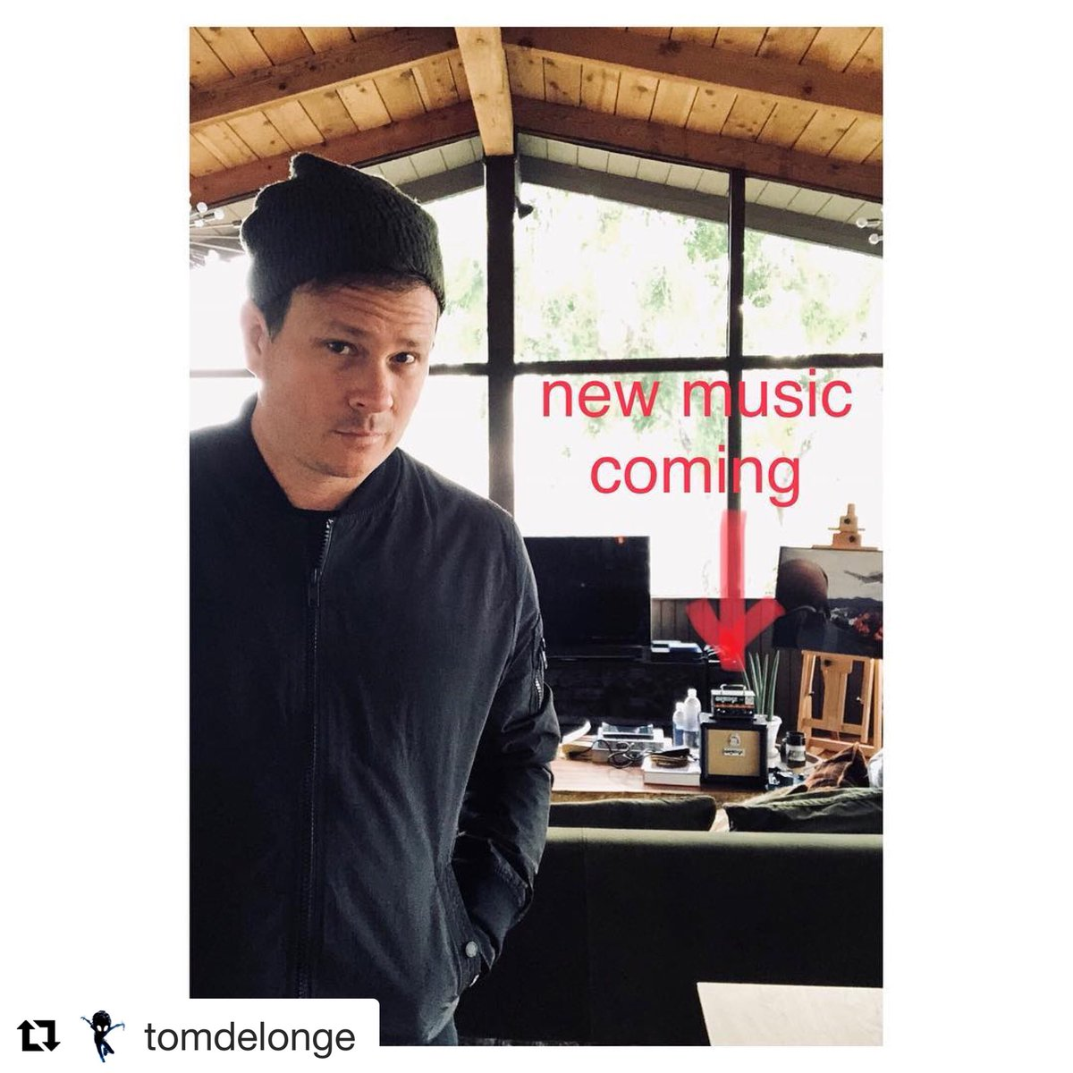 #Repost @tomdelonge | ...Just waiting for 1 piece of gear & my studio will be operational. Then, some very fast, soaring AVA music to go w the Strange Times Film... I have a feeling this will be a hallmark album for me... instagram.com/p/Bg_wnI9na3e/