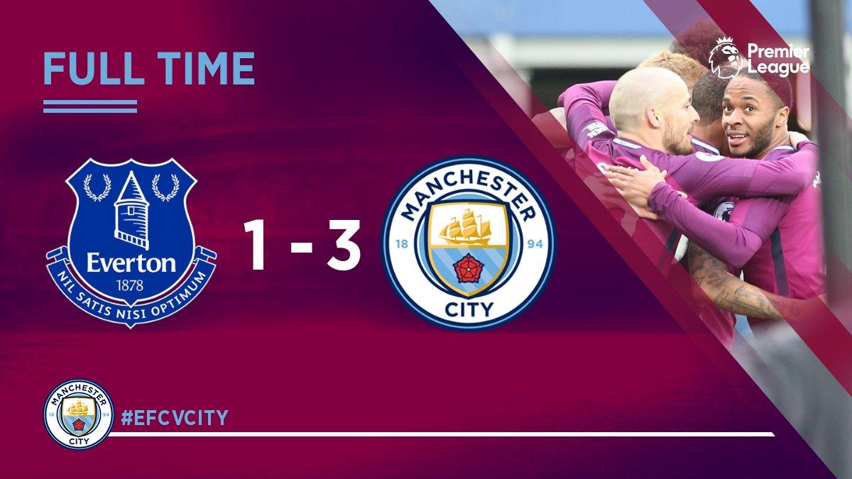 Chấm điểm kết quả Everton 1-3 Manchester City