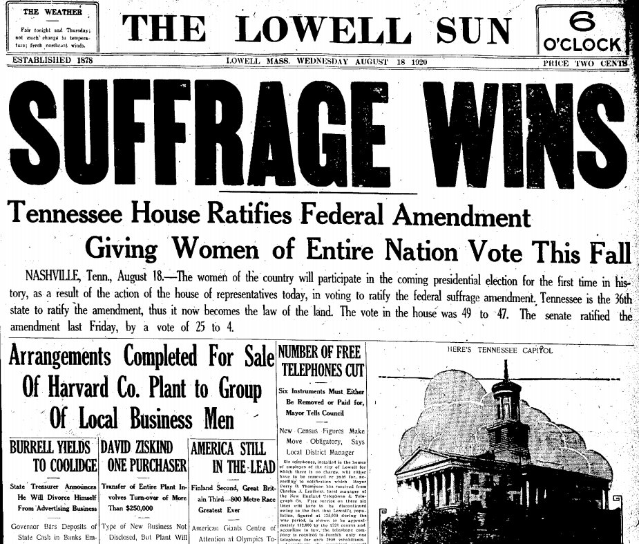 19th Amendment Extending The Right To Vote Women Unfortunately Lucy Stone Who Spent Her Life Championing Cause Of Womans Suffrage