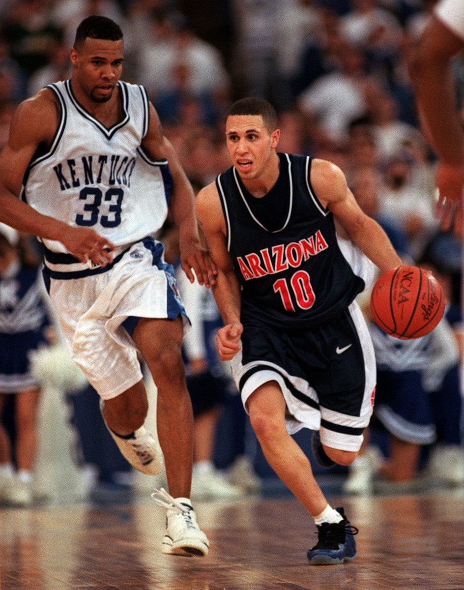 71030a467fd3a also mike bibby is rocking the nike air foamposite 1s in the national title  game bibby