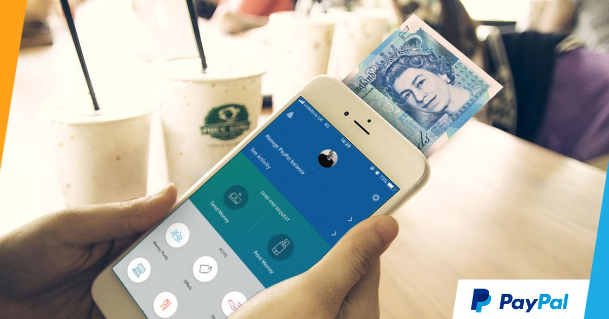 paypal uk on twitter you can now print money directly from your