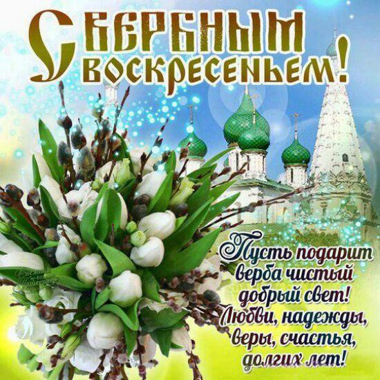 Открытка поздравления с вербным воскресеньем, днем рождения