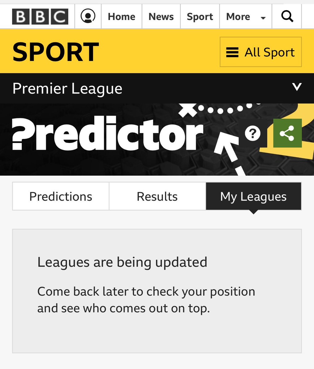 bbcpredictor hashtag on Twitter