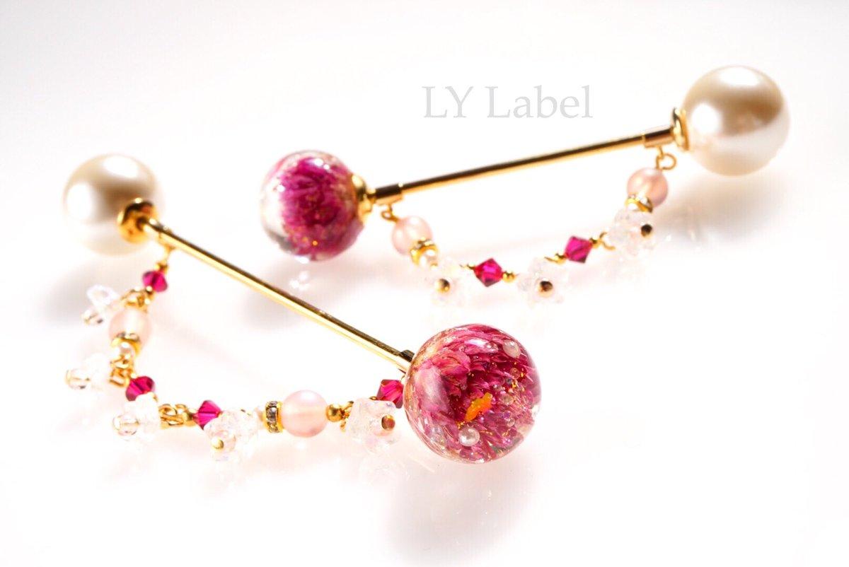 【Flower baton】 鮮やかな花が春の息吹を感じさせます。  製作者 LY_Label_