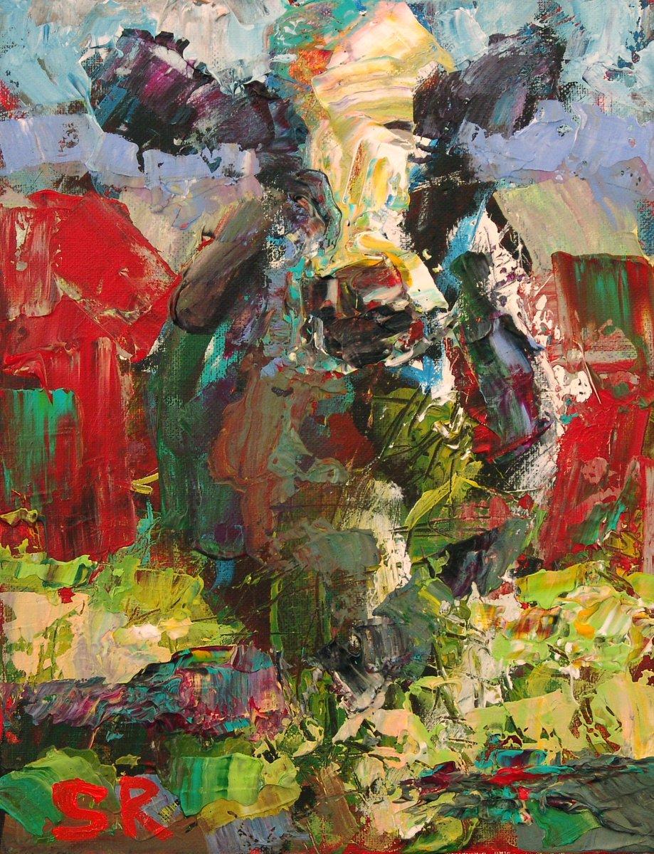 Sam Raines On Twitter Original Colorful Cow Painting Barn