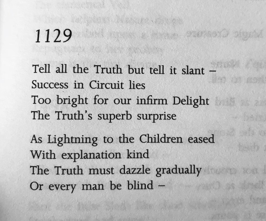 tell the truth but tell it slant poem
