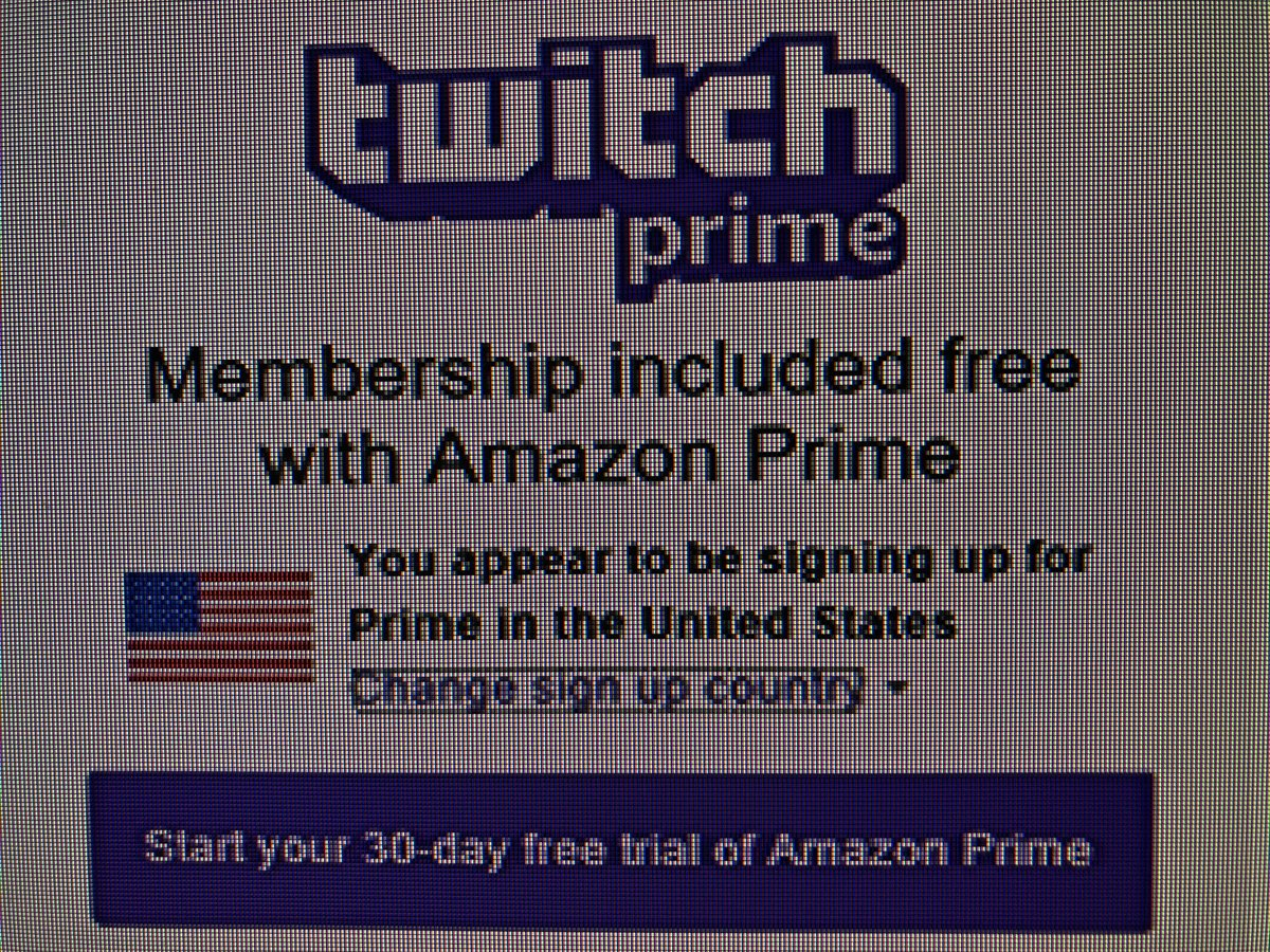 how to link amazon prime to twitch