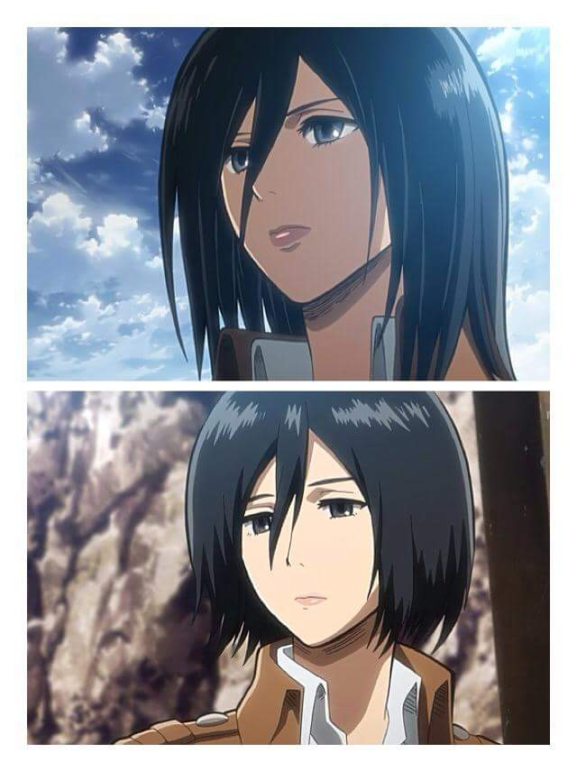 Mikasa Ackerman On Twitter Long Hair Or Short Hair
