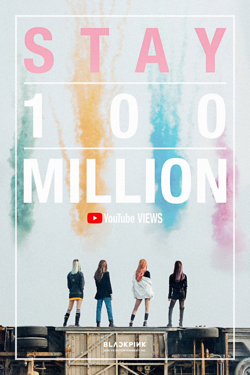 #BLACKPINK's 'STAY' MV Hit 100 Million Views on @YouTube  '#STAY' M/V ⬇️ https://t.co/EmONwQJDA5  #블랙핑크