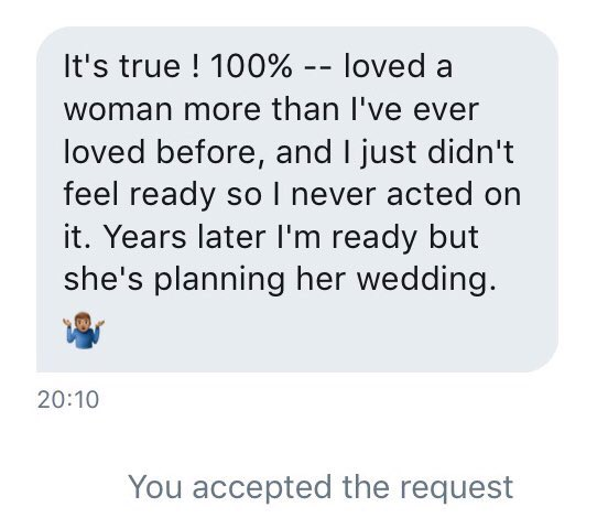 """""""Most men don't marry the woman they love(d) the most. They marry the woman that is around when they are ready to marry"""".   I saw this shared on Instagram and wanted some male opinions on this. Is this statement completely false or does it hold some truth?"""