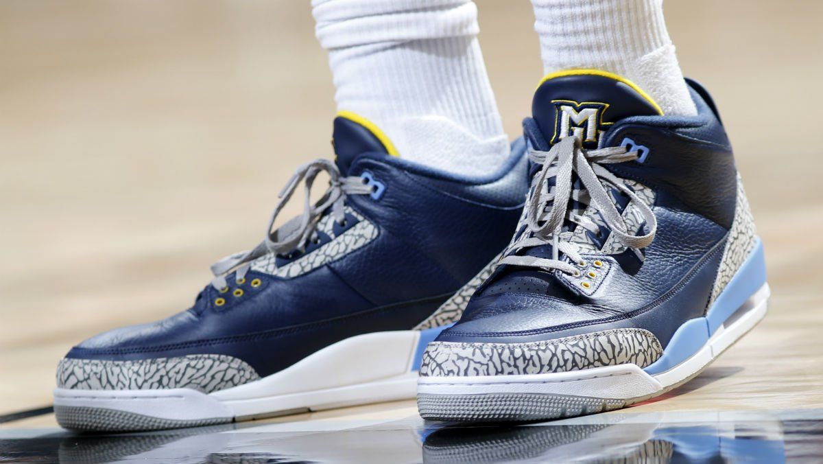 42d9c55b761  SoleWatch  P.J. Tucker wearing the  MarquetteMBB Air Jordan 3 PE today.pic. twitter.com mAMARsa4Tz
