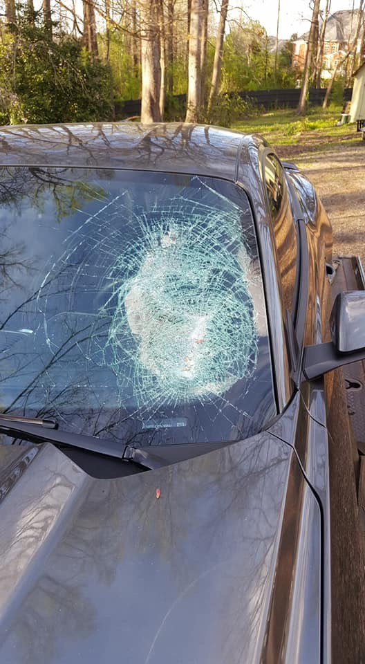 Police threw planks paper weights drivers Forsyth County