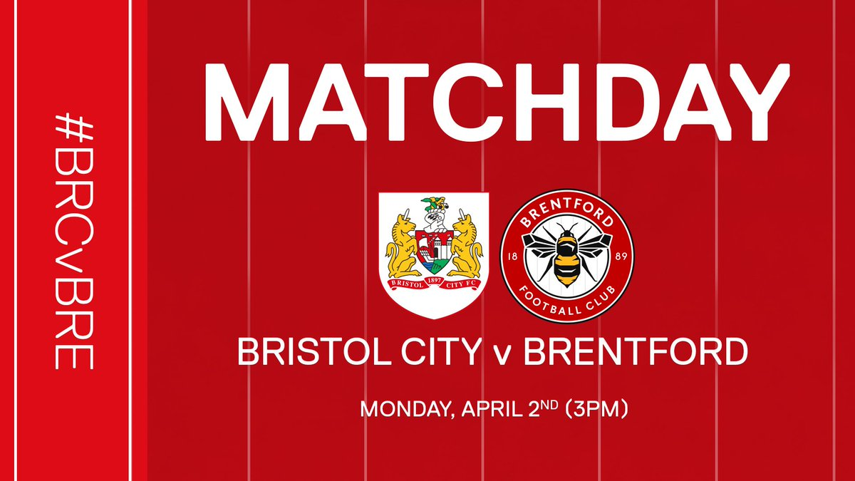🚨 ITS MATCHDAY! 🚨  🆚 @BrentfordFC  📍 Ashton Gate  🏆 @SkyBetChamp  ⌚️ 3pm  🎫 Pay on the day  📺 BCTV+ (outside UK/IRE)  👻 bcfcsnap  📱 #BRCvBRE