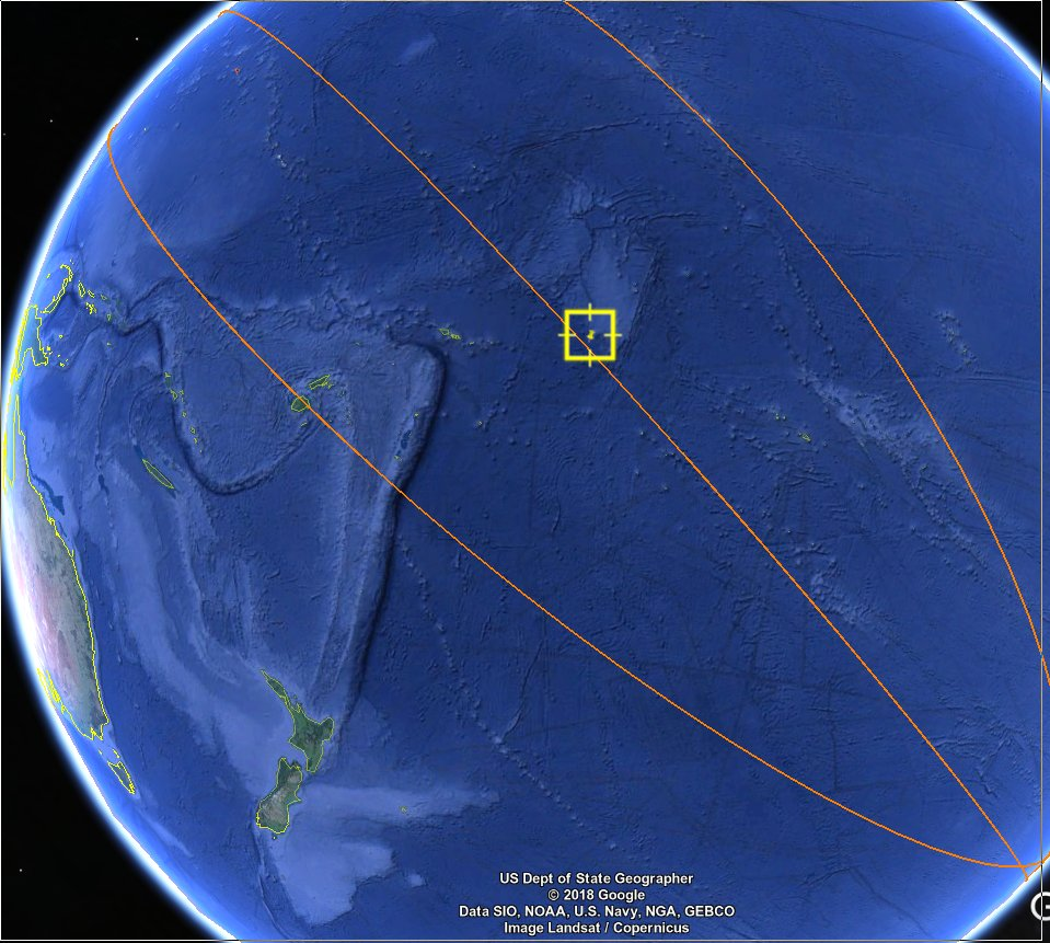 NW of Tahiti - it managed to miss the 'spacecraft graveyard' which is further south! https://t.co/Sj4e42O7Dc