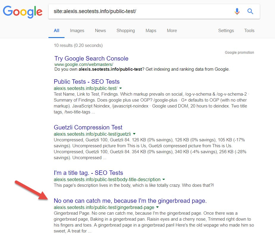 alexis sanders on twitter seo experiment question do