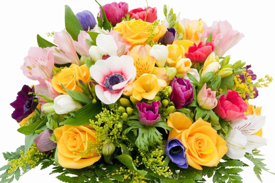 Красивые открытки с днем рождения букет цветов, розы