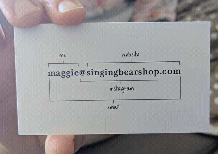 logo geek on twitter love this such a super simple business card