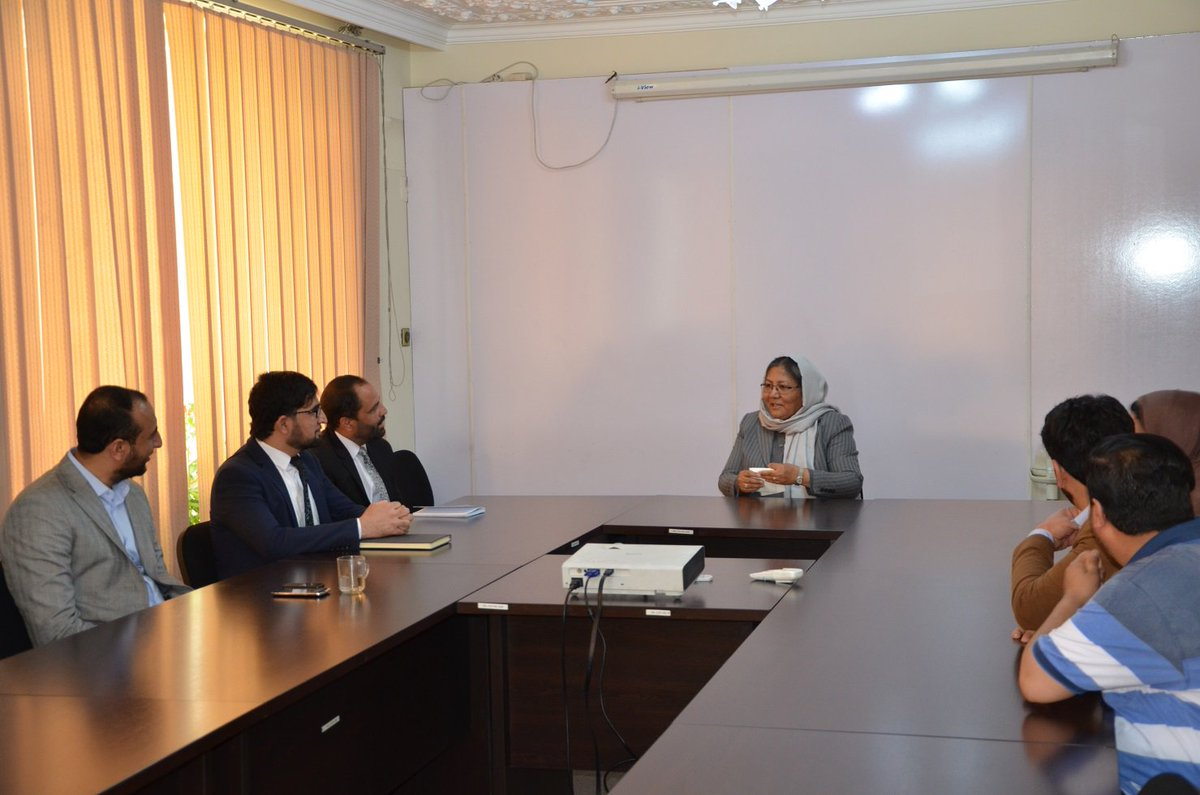 Dr. @SarabiHabiba, AICS Board Chair, introduced Mr. Mohammad Zakir Stanikzai as @AICSaf new Chief Executive. She appreciated efforts of @KhalidZhuanday, AICS Acting Chief Executive in the last few months, and wished more achievements for AICS under Mr. Stanikzai's leadership.