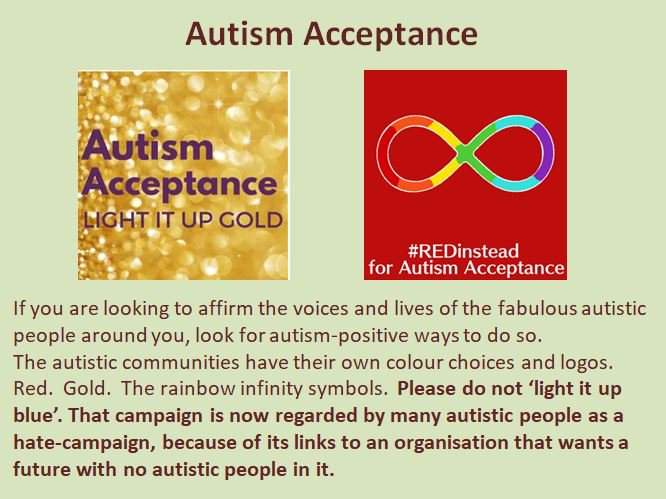 Ann Memmott On Twitter Autism Acceptance Day Autismis A