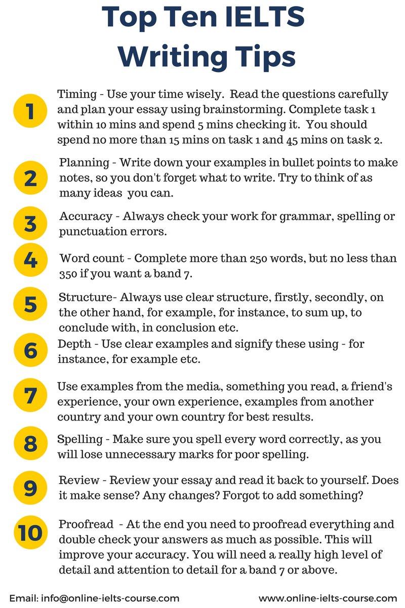 Line IELTS On Twitter Top Ten Writing Tips S T