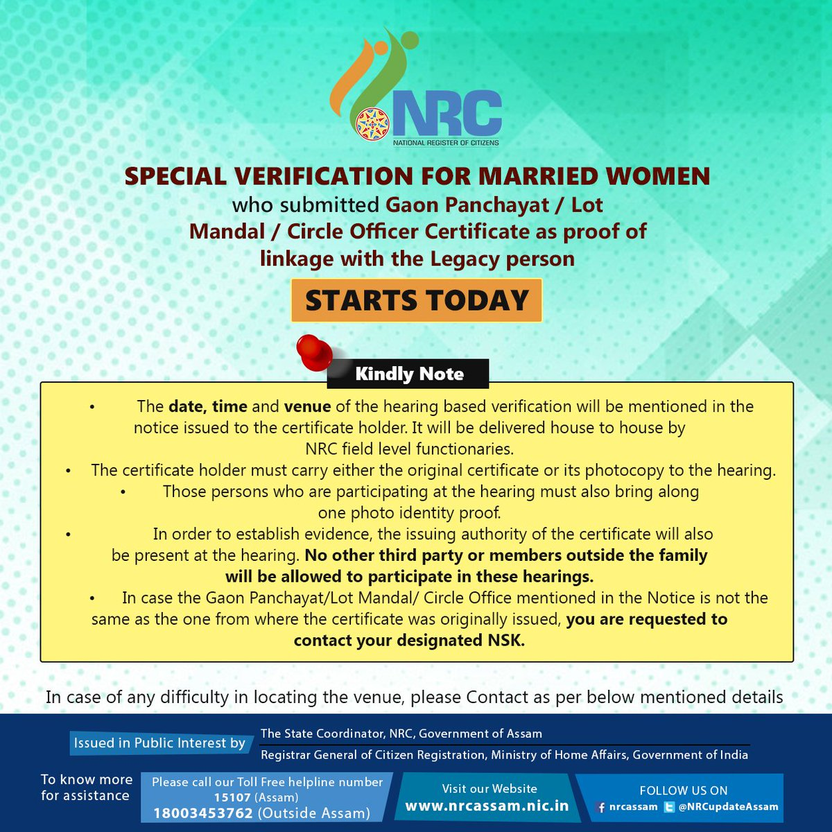 NRC Updation Assam on Twitter: