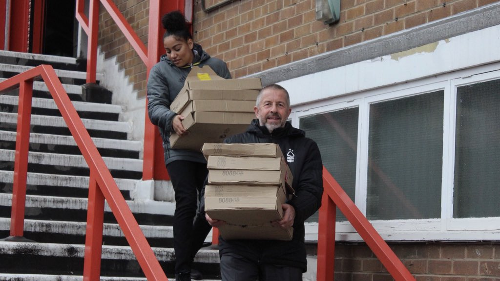 Game off but nothing wasted. #NFFC staff have been out distributing food to homeless organisations around the city. #ThatLovingFeeling