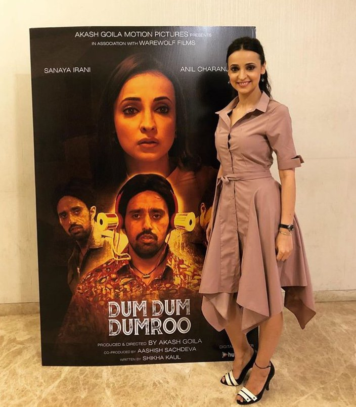 sanaya irani, photos, pics, dum dum dumrro, dress, screening, short film, pictures, images