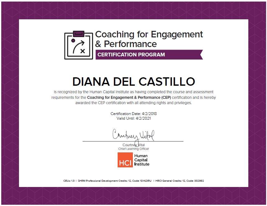 Diana Del Castillo On Twitter Cep Certified